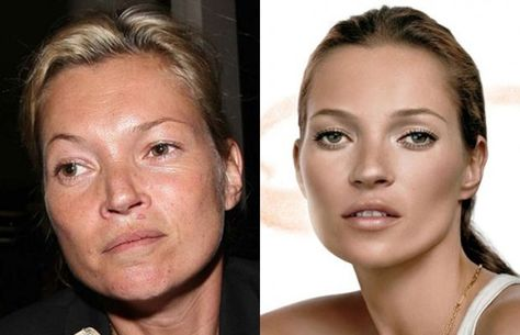 Kate Moss before and after photoshop