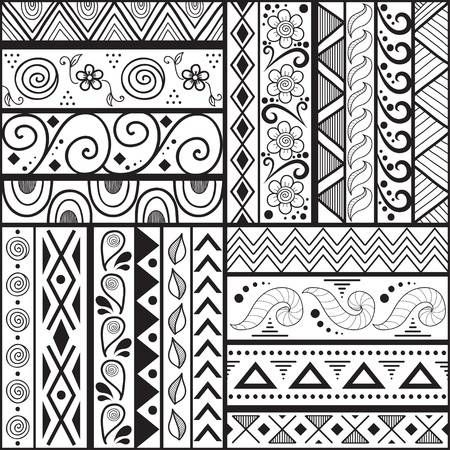 Stock Vector Pattern Design Drawing Doodle Patterns Pattern