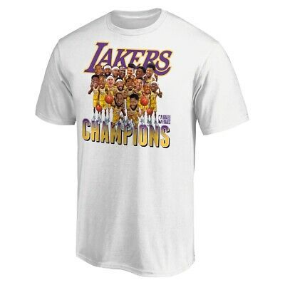 Los Angeles Lakers 2020 Nba Finals Champions Team T Shirt White All Size Ebay In 2020 Team T Shirts Los Angeles Lakers Lakers