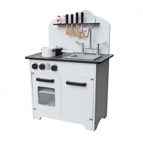 Drewniana Kuchnia Dla Dzieci Deluxe White Gas Grill Decor Wooden Toys