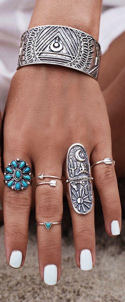 Boho jewelry style                                                       …