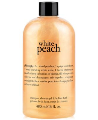 Philosophy White Peach Shampoo Shower Gel Bubble Bath Created
