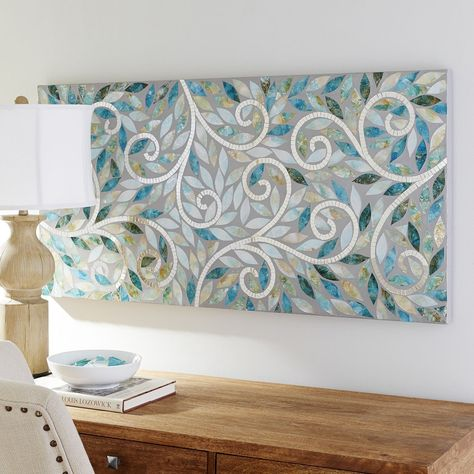 Spa Swirls Wall Panel | Pier 1 Imports great water and plant colors - Tranquil tones and intriguing, reflective swirls give our wall panel a unique sense of serenity. Hand-carved, hand-painted and featuring glass mosaics, it can be hung vertically or horizontally, making it ideal for a wide range of spaces.