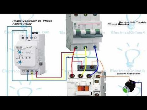 Phase Failure Relay Connection Installation In Hindi Urdu Youtube Relay Circuit Failure