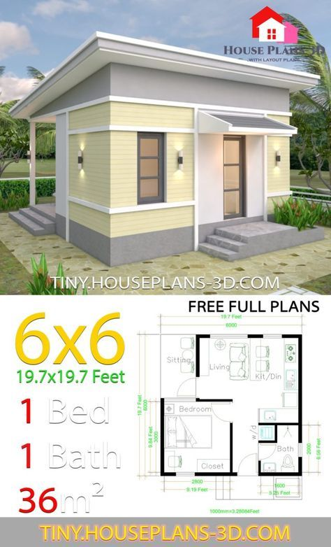 Trendy House Design Plans Pictures 29 Ideas One Bedroom House Small House Plans Diy House Plans
