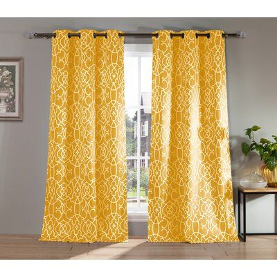 Darby Home Co Callender Geometric Blackout Thermal Grommet Curtain