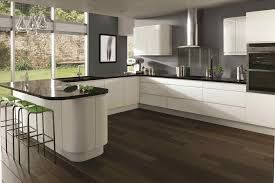Image result for white gloss kitchen with black worktops | NEW HOUSE on black with white drawers, black with white kitchen floor, black with white doors,