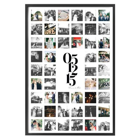 Personalised photo print with date | hardtofind.