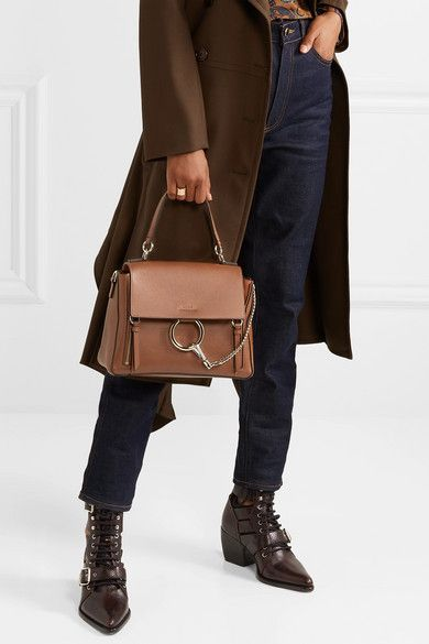 bbec9b57e2 Chloé - Faye Day large textured-leather shoulder bag in 2019 ...