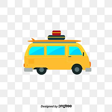 Yellow Cartoon Tourist Cars Car Clipart Cartoon Car Cartoon Style Png And Vector With Transparent Background For Free Download Cartoon Styles Online Graphic Design Car Cartoon