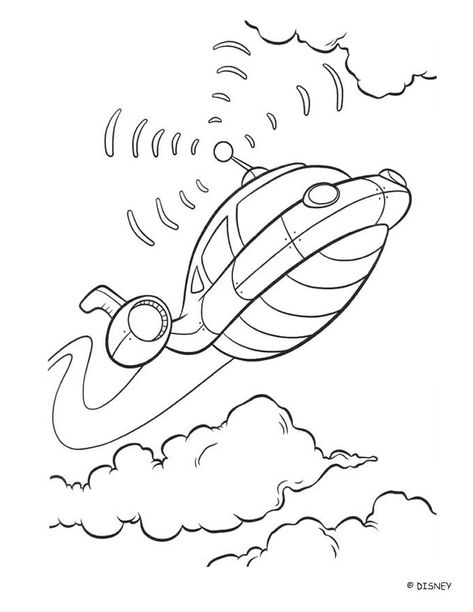 Color This Beautiful Rocket A Nice Coloring Page About The Movie