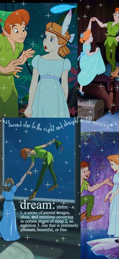 Peter Pan and Wendy Wallpaper
