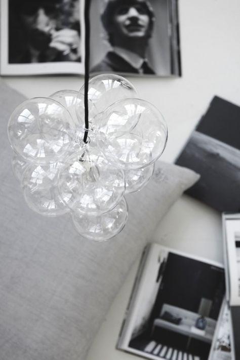 house doctor DIY glassball lamp