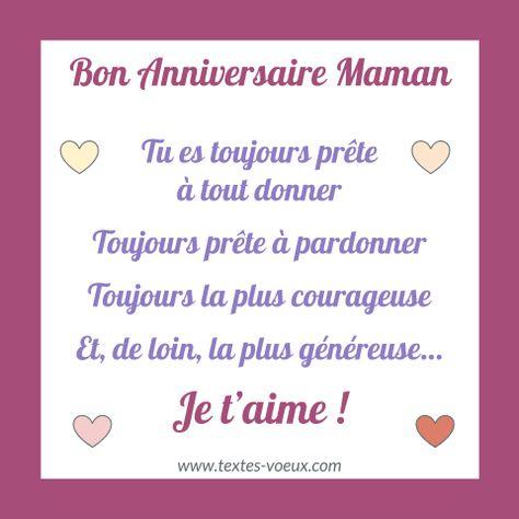 Poème Anniversaire Maman 60 Ans Ou Autre âge Message
