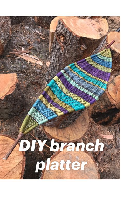 DIY branch platter