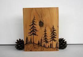 Simple Tree Wood Burning Designs