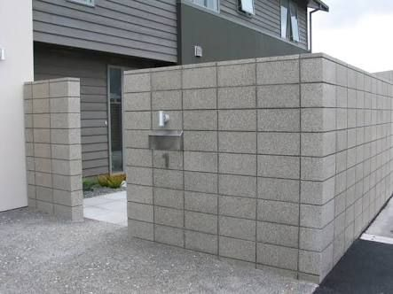 Image Result For Nz Concrete Block House With Images Concrete Block Walls Concrete Blocks Brick Fence