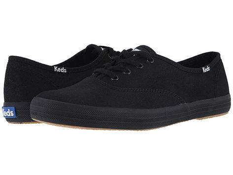 415c72e265a6c7 Keds Champion-Canvas CVO (Full Black) Women s Lace up casual Shoes. The  signature Champion Keds style has carried the blue label for over 100 years  and has ...