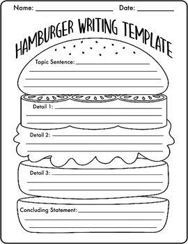 Hamburger Writing Template Writing Templates Teaching