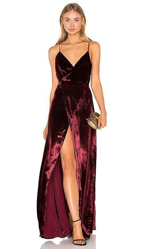Long Prom Gowns Evening Dress ,Burgundy Slit prom dress,prom dresses by RosyProm, $116.84 USD