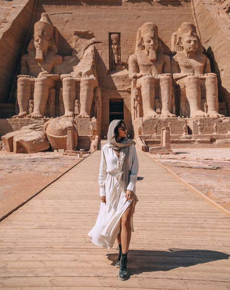 The Perfect Egypt Itinerary - 10 Days of Exploring History - Abu Simbel is an impressive temple to Egypt Travel, Africa Travel, Egypt Wallpaper, Egypt Design, Egypt Crafts, Hurghada Egypt, Egypt Tattoo, Modern Egypt, Egypt Fashion