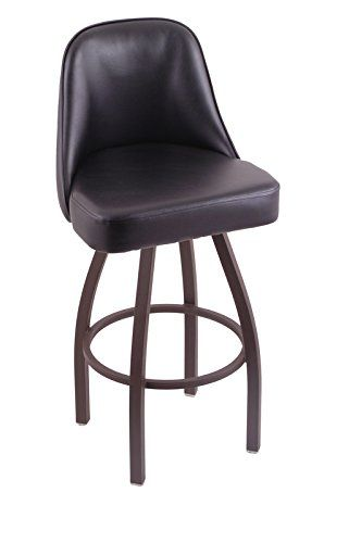 Holland Bar Stool Co 840 Grizzly 36 Bar Stool With Bronze Finish And Black Vinyl Swivel Seat Black Vinyl See T Bar Stools Swivel Bar Stools Tall Bar Stools 36 seat height bar stools