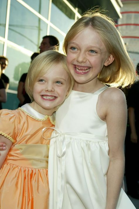 HOLLYWOOD - AUGUST Actresses Dakota and Elle Fanning attends the MGM Pictures Los Angeles premiere of the film 'Uptown Girls' at the ArcLight Cinerama Dome August 2003 in Hollywood, California. (Photo by Kevin Winter/Getty Images)