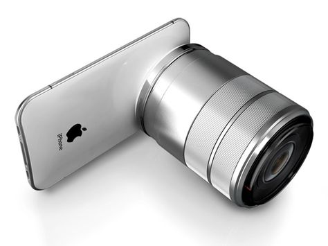 iPhone PRO concept - Concept that will attach a 3D camera to iPhone with a DLSR lens