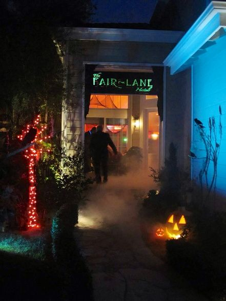 concierge haunted hotel project outside and entrance 2nd annual witches luncheon pinterest haunted hotel