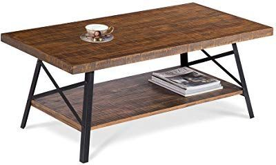Try Not To Fall In Love With This Lovely Chandler Rustic Industrial Solid Wood And Steel Coffee Modern Farmhouse Coffee Table Coffee Table Steel Coffee Table