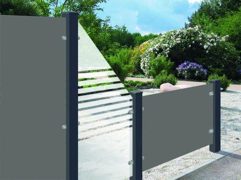 sichtschutzzaun Sichtschutz Zäune aus Glas von Zaunteam - Zäune