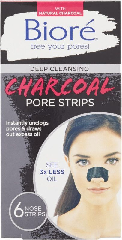 Deep Cleansing Charcoal Pore Strips From Biore Are Infused With