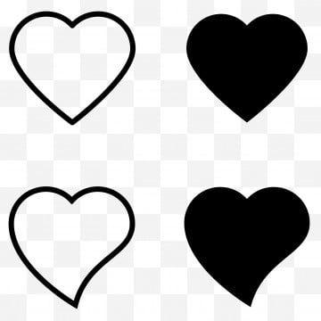 Definir O Icone Do Coracao Contorno Amor Contorno Vector Coracao Preto Amor Preto Icone Amor Clipart Contorno Do Coracao Resumo Imagem Png E Vetor Para Downl In 2021 Heart Icons Heart