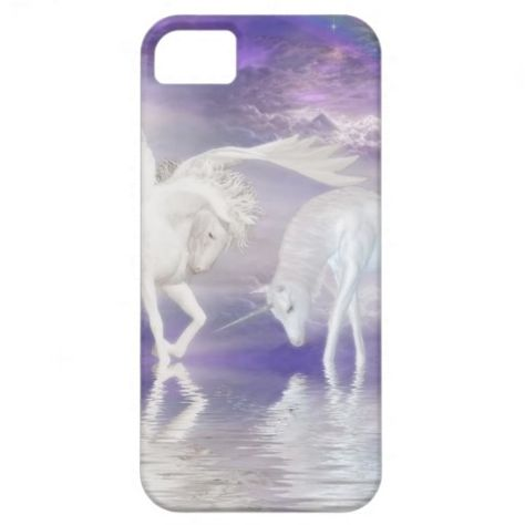 Beautiful Unicorn and Pegasus Fantasy iPhone 5 Case $42.95