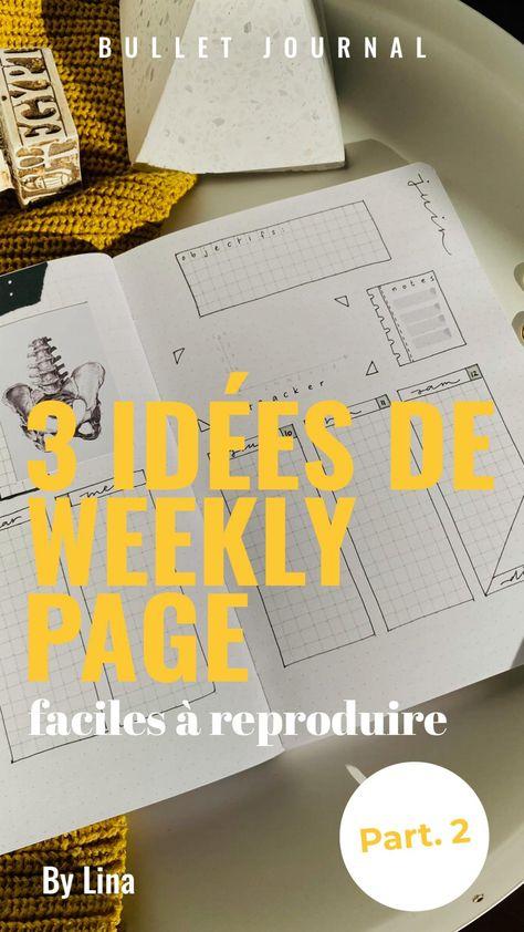 Weekly planner dans un bullet journal