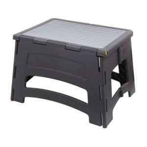 Rubbermaid 1 Step Plastic Step Stool With 300 Lbs Duty Rating Rm Pl1w In 2020 Plastic Step Stool Stool Collapsible Stool
