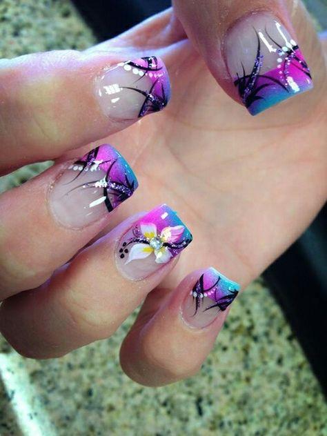 Floral purple blue nail design nail art gallery pinterest floral purple blue nail design nail art gallery pinterest blue nails makeup and pretty nail designs prinsesfo Choice Image