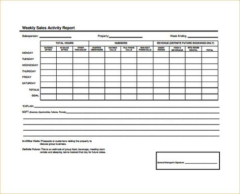 Sales Representative Report Template 3 Templates Example