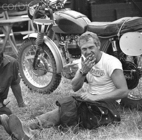 I want this as a poster!  Steve McQueen - 24 de marzo de 1930 - Competir es vida. Cualquier cosa antes o después es sólo esperar -Steve McQueen-