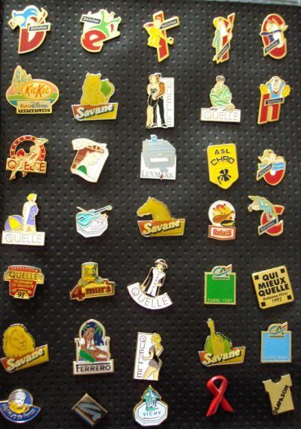 collection de pin's... Nostalgie!