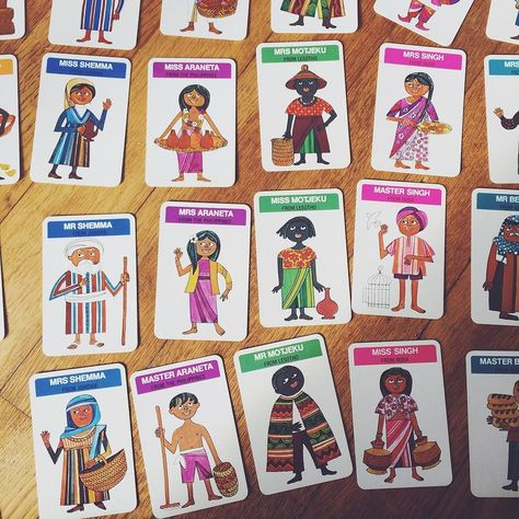 Literally Playing Happy Families African Crafts Modern Vintage