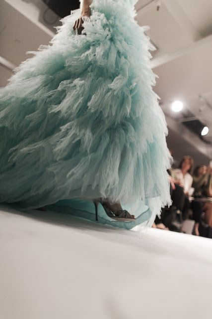 Aquamarine dream. Found this tulle stunner in our Spring '13 archive. Photo by James Nord