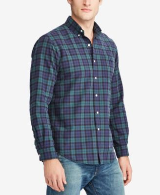 626a0220 Polo Ralph Lauren Men's Iconic Plaid Slim-Fit Oxford Shirt ...
