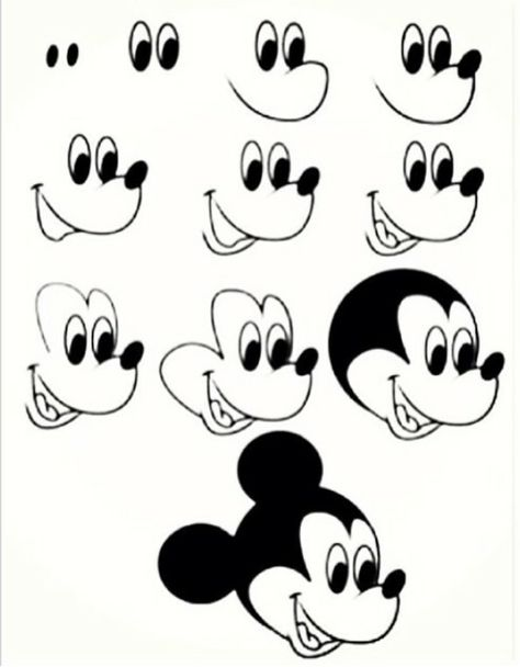 how to draw Mickey Mouse ●●tap to see it all 👆