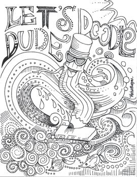 Dude Perfect Coloring Page : perfect, coloring, Perfect, Poster, Doodle, Chill, Doodle., Lines,, Shapes,, Swirls, Curls., Posters,, Handouts,