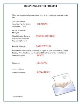business letter format free this business letter format shows that th