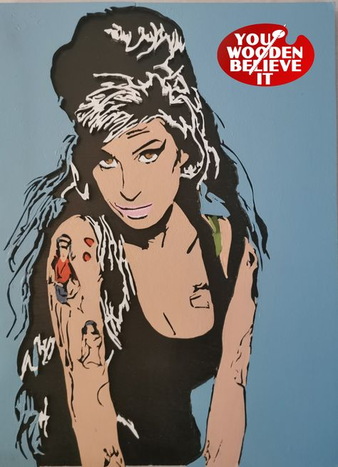 Amy Winehouse Pop Art Style Scroll Saw Artwork - Limited Edition