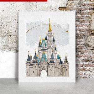 Disney Print Disney Castle Art Disney World Castle Original Illustration Drawing Cinderella S Castle Wall Art Disney Decor Disney Home Decor Disney Print