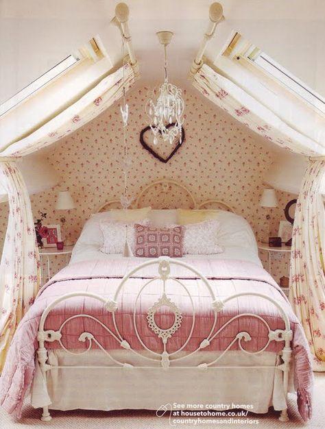 Pink And Girly Country Bedroom Disegni Camera Da Letto Ragazza