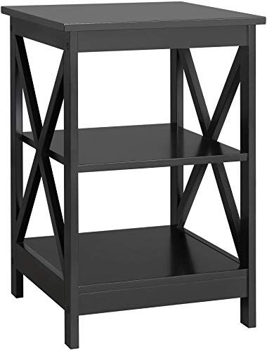 New Yaheetech 3 Tier Sofa Side End Table Shelf X Shape Chair Side Coffee Snack Table Living Room Bedside Table Night Stand Display Unit Organizer Black Onlin In 2020 End Tables